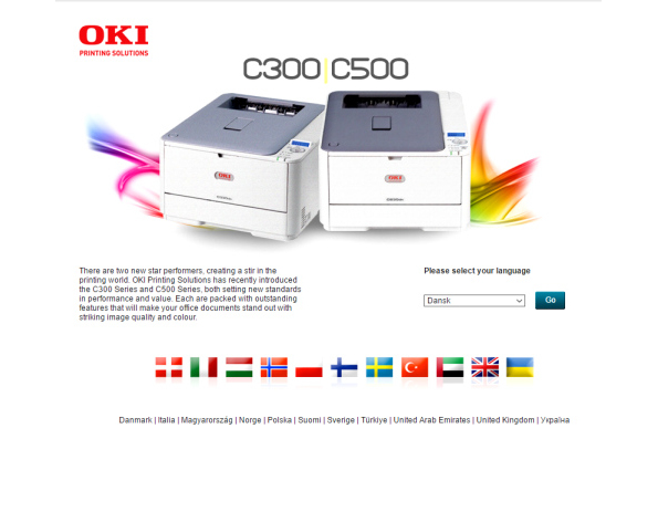 OKI C300/C500 launch campaign site