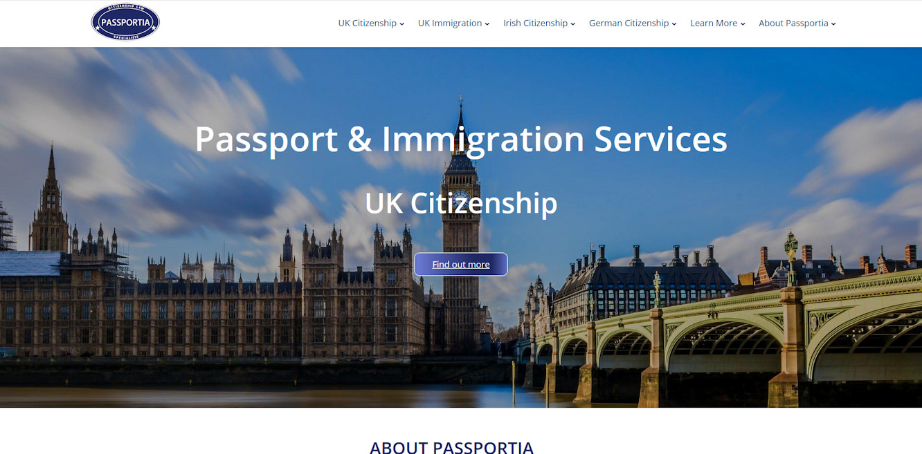 Passportia - new corporate website